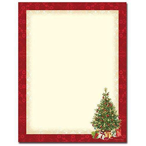 Lacy Tree Christmas Letterhead & Printer ()