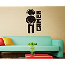 Lingduan Wall Decals Game Controllers Gamer Gamepad Joystick Gaming Video Game Kids Children Nursery Boys Room Bathroom Vinyl Sticker Wall Decor Murals Wall Decal