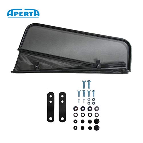 (Aperta Black winddeflector for Maserati BI Turbo | Tailor Made Windblocker | Windstopper Maserati Convertible)