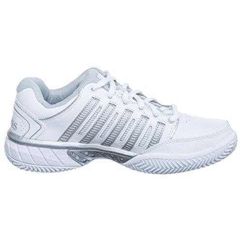 Swiss HB Femmes Blanc Leather 5 35 K Argent Chaussures Terre Express Tennis De Battue Chaussure Hypercourt aXCdq