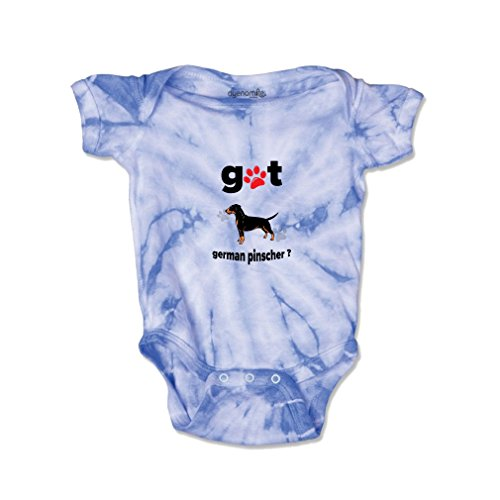 Pinscher Tie (GERMAN PINSCHER DOG Got Baby Kid Tie Die Fine Jersey Bodysuit Carolina Blue Newborn)