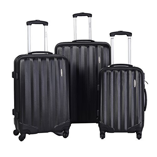 GLOBALWAY 3 Pcs Luggage Travel Set Bag ABS Trolley Suitcase w/TSA Lock - Uk Sale Versace Bag