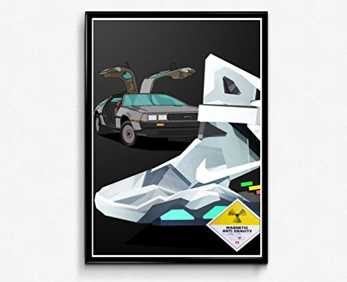 Rob's Tees Custom Low Poly Art Sneaker Poster Hypebeast Posters Pop Culture Wall Art Streetwear Posters (Frame NOT Included) (24x30)
