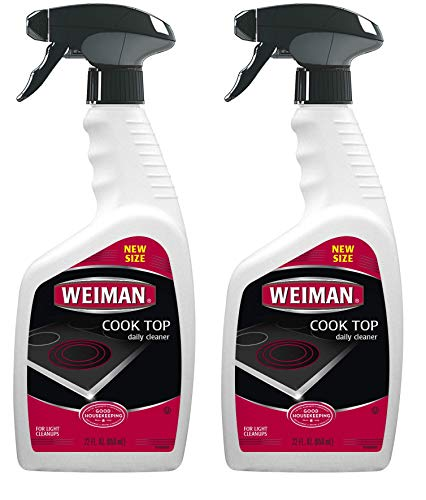Weiman Cooktop Cleaner for Daily Use (2 Pack) Streak Free, Residue Free, Non-Abrasive Formula - 22 ()