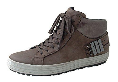 Gabor Mujeres Sneaker Rodas 36.434.49 volcán cuero nobuck marrón, talón aprox 2 cm, ancho de G, tamaño 37 a 40,5 braun