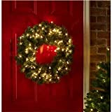 Konstsmide outdoor battery operated wreath 40 leds 40 cm with dusk good looking led light up christmas wreath mozeypictures Gallery