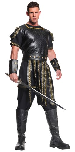 Egyptian Roman Greek Costumes (Underwraps Men's Roman Warrior, Black/Gold, One Size)