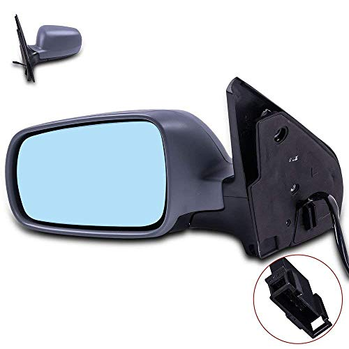 Door Mirrors ECCPP High Performance Left Side Mirror Replacement Driver Side Mirror with Power Adjusted Heated Manual Folding Replacement fit for Volkswagen Golf VW Wagon Jetta Sedan