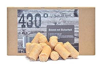 430 ° Certificado Cigarrillos - 1,5 kg aprox. 150 Unidades.Chimenea de