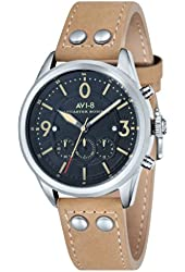 "AVI-8 Men's AV-4024-02 ""Lancaster Bomber"" Stainless Steel Watch with Leather Band"