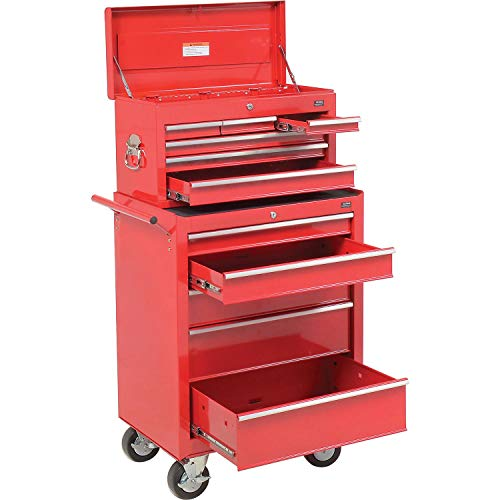 5-Drawer Roller Tool Cabinet W/Ball Bearing Slides & Top Tool Chest Combo, 26-5/8