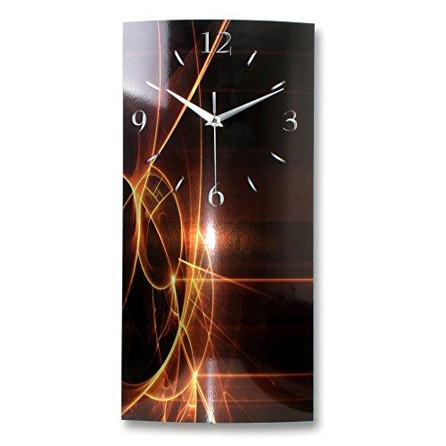 Kreative Feder Abstrakt Alu Designer Wanduhr Funk Funkuhr modernes Design *Made in Germany WAG062F