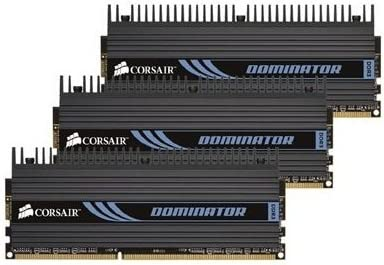 Corsair TR3X6G1600C8D Dominator 6 GB 3 x 2 GB PC3-12800 1600MHz 240-Pin  DDR3 Core i7 Memory Kit at Amazon.com