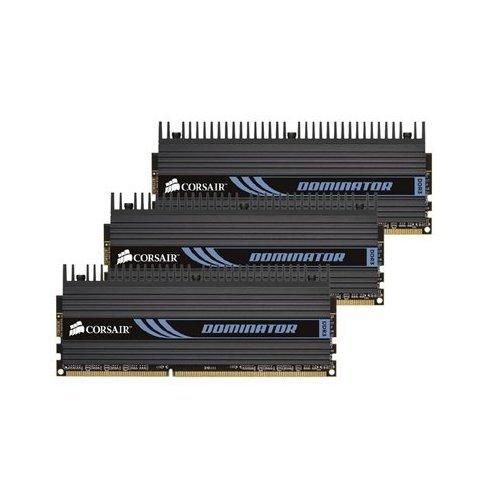 Corsair TR3X6G1600C8D Dominator 6 GB 3 x 2 GB PC3-12800 1600MHz 240-Pin DDR3 Core i7 Memory Kit