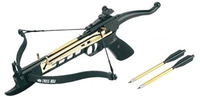 80 Lbs Self-cocking Crossbow Pistol Cross Bow 15 Arrows