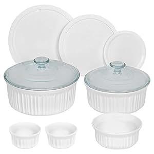 CorningWare 10 Piece Round Bakeware Set, French White