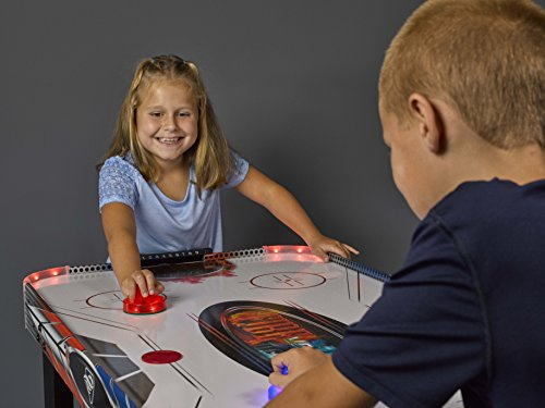 Triumph Fire 'n Ice LED Light-Up 54 Air Hockey Table Includes 2 LED Hockey Pushers and LED Puck