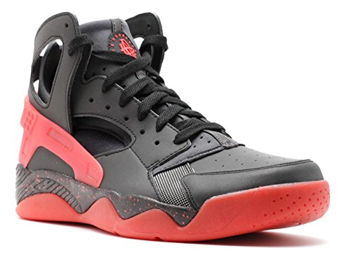 Nike Air Flight Huarache PRM QS Men's Shoes Black/Anthracite-Challenge Red 686203-001 (8 D(M) US) (Nike Flight Qs)