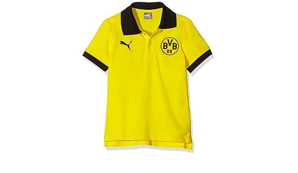 PUMA - Polo para niños con Escudo de Equipo Borussia Dortmund ...
