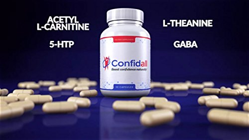 CONFIDALL - Confidence Boosting Anti Anxiety Anti Depressant Positive Mood Enhancer 5HTP GABA Nootropic Supplement Reduce Stress Increase Focus Be Calm Relax 30 Capsules New by Confidall (Image #3)