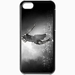 Personalized iPhone 5C Cell phone Case/Cover Skin Basketball Black