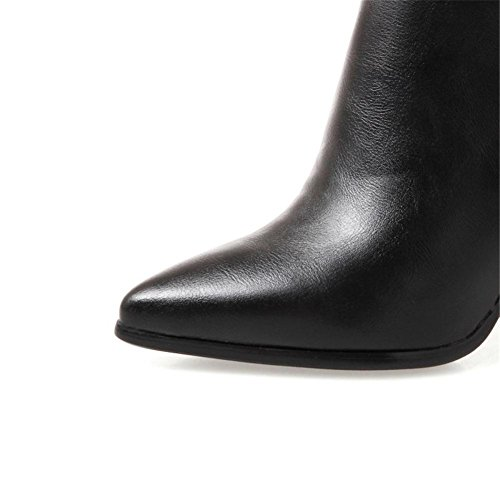 Trabajo Fiesta EUR38UK55 Negro Artificial PU Mujeres 36 5 Lateral NVXIE EUR Heel Otoño Cremallera 4 Antideslizante Botines High Rough Invierno de UK 3 x0OxqZwvB
