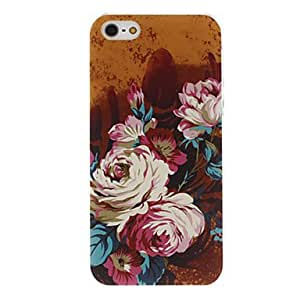 sold out Oil Painting Flower Pattern Transparent Frame PC Hard Case for iPhone 5/5S
