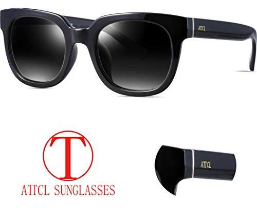 ATTCL Unisex Retro Rewind Classic Polarized Wayfarer Sunglasses Men or Women 3002 Black