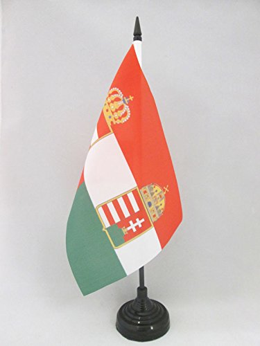 BANDIERA DA TAVOLO AUSTRIA-UNGHERIA 1867-1918 21x14cm - PICCOLA BANDIERINA IMPERO AUSTRO-UNGARICO 14 x 21 cm - AZ FLAG