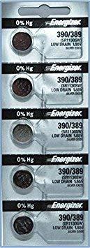 (Energizer 390/389 Silver Oxide Cd/5)