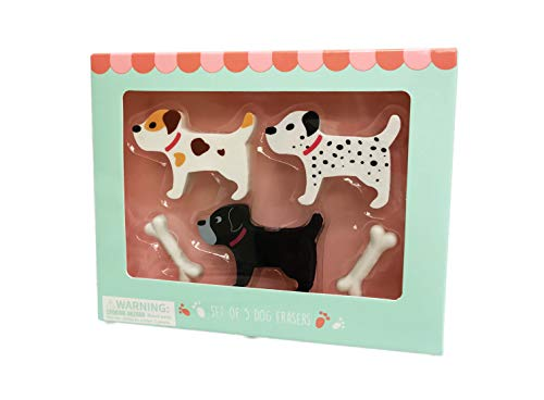 Fun Set of 5 Dog Themed Novelty Erasers by Eccolo