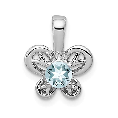 925 Sterling Silver Blue Aquamarine Pendant Charm Necklace Birthstone March Set Fine Jewelry Gifts For Women For Her -