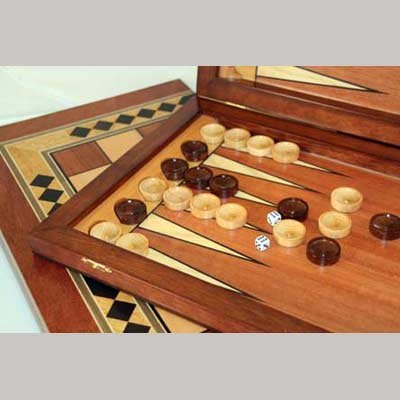 Backgammon Set - Large (Nardy) Made in Russia Backgammon Set Materials