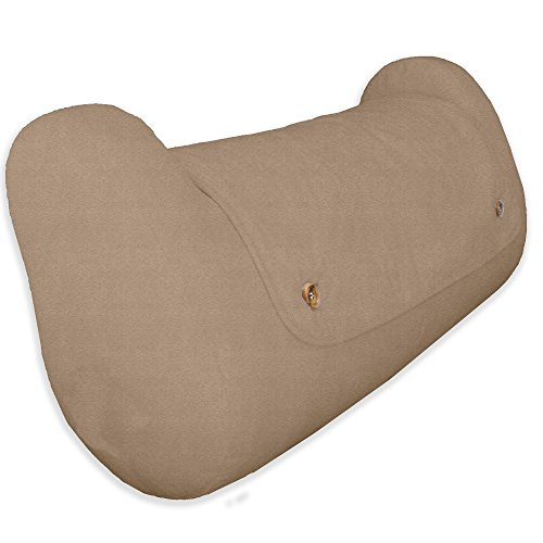 (LegLounger (Microsuede Cover, Natural Color) - Legs and Knees Support Pillow)