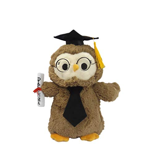 - B&B Graduation Owl with Cap & Glasses & Diploma Plush Plays Pomp and Circumstance Graduation Walking March Song