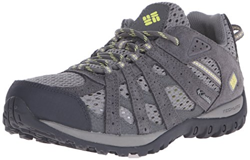 Columbia Women's Redmond Breeze Trail Shoe, Light Grey/Sunnyside, 6 B US by Columbia