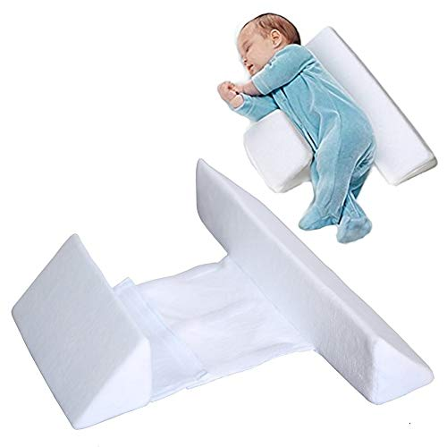 - Newborns Infant Baby Sleep Pillow, Side Support, Comfortable & Washable#3213 (White)