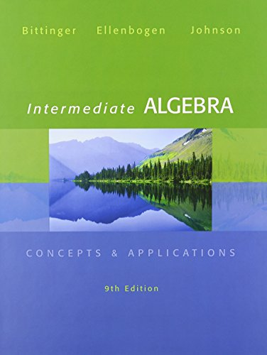 Intermediate Algebra: Concepts & Applications, MyMathLab, and Student's Solutions Manual