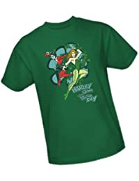 Harley Quinn and Poison Ivy -- DC Comics Adult T-Shirt