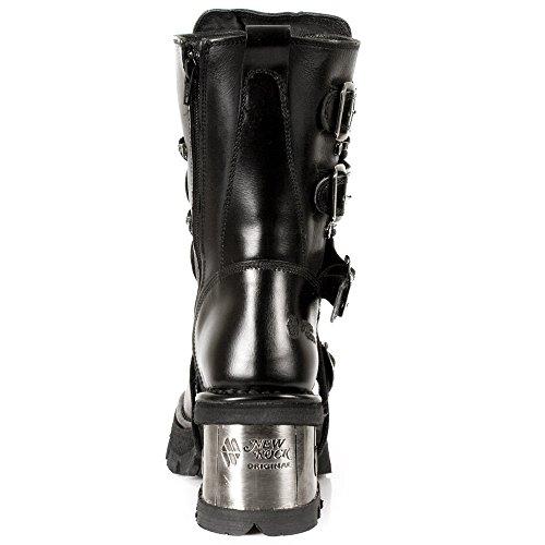 NEWROCK 373-S33 Damen schwarz Leder Heel Stiefel Gothic Fashion New Rock Biker