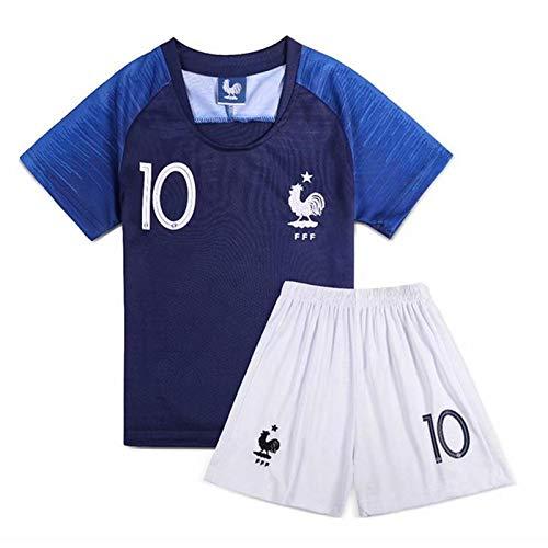 Coppa del Mondo 2018 pantaloncini HZL,/Completo da calcio maglia n 10 della nazionale francese Kylian Mbapp/é T-shirt /Calze in omaggio