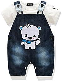 Cute infantil niños ropa de bebé Boys 'Romper Jumpsuit overol pelele de rayas Sets