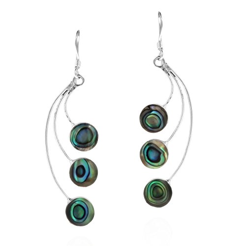 Sterling Silver Abalone Shell Drop - 9
