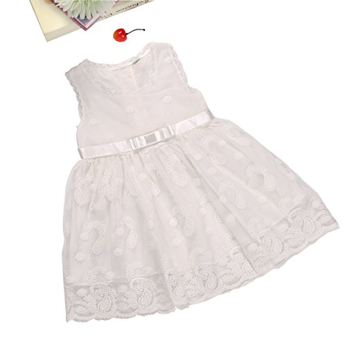 Baby Girls Princess Pink Dress With Belt - 7