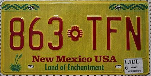 Nummernschild New Mexico Kennzeichen Us License Plate Usa Blechschild Küche Haushalt