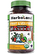 Herbaland Gummy for Kids: F,V & Fiber 60 Gummies