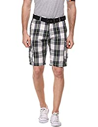 "<span class=""a-offscreen"">[Sponsored]</span>Men Plaid Flat-Front Casual Cargo Shorts"