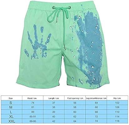 yorten Pantaloncini da Bagno Uomo Cambio di Colore Taglia Larga Mare Costume da Bagno Uomo con Cambio di Colore Pantaloni da Spiaggia Uomo con Cambio di Colore sensibile alla Temperatura