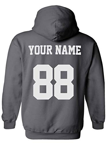 Design Your OWN Hoodie - Custom Jersey Hoodies - Pullover Team Sweatshirts Charcoal
