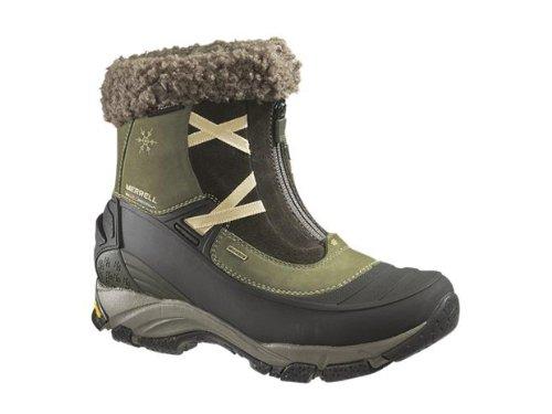 Merrell Kvinna Winterlude Zip Vattentät Snö Boot (dammiga Oliv) Storlek 6
